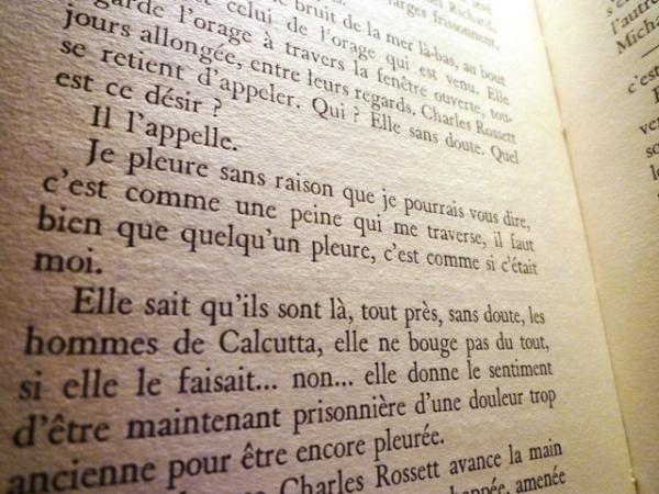 Marguerite Duras, Le vice-consul. Gallimard, impr. 1966. Page 198.
