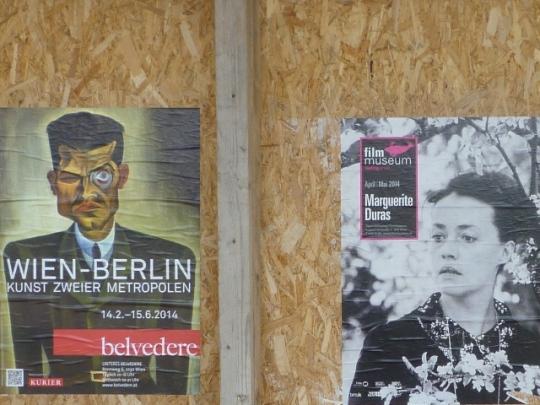 Affiches à Vienne (Autriche), 24 avril 2014