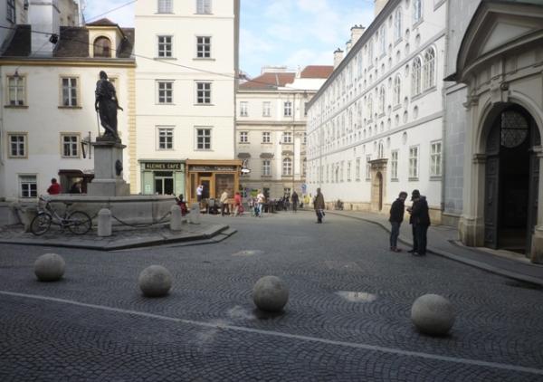 Vienne (Autriche) = Wien (Österreich), Franziskaner Platz, 26 avril 2014