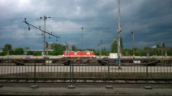 Gare de Ljubljana (Slovénie), 11 mai 2014