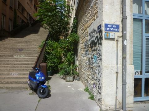 Lyon (France), rue des Fantasques, 19 août 2014