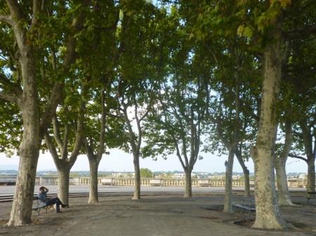 Montpellier (France), esplanade du Peyrou, 20 septembre 2014