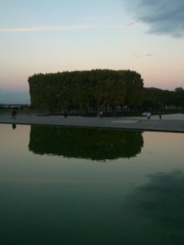 Montpellier (France), esplanade du Peyrou, 25 octobre 2014