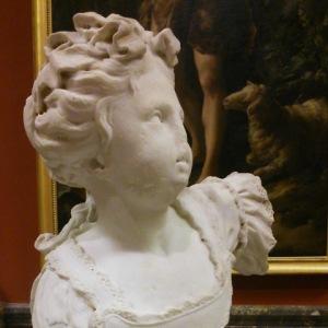 François Dumont (Paris 1688 - [?] 1726) | Statue de Mlle Bonnier de la Mosson (1720), détail. Musée Fabre, Montpellier (France)