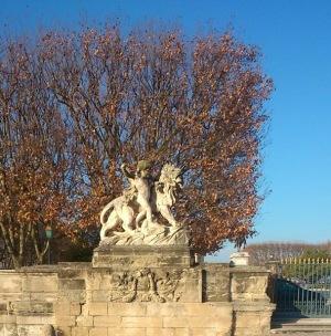 Montpellier (France), esplanade du Peyrou, 24 décembre 2014