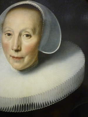 Dirck Dircksz van Santvoort (Amsterdam 1610 - Amsterdam 1680) | Portrait de femme (vers 1635-1640), détail. Musée Fabre, Montpellier (France)