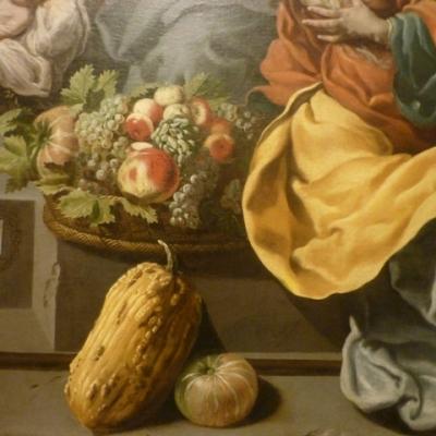 Giovanni Andrea Coppola (Gallipoli 1597 - Gallipoli 1659) | Adoration des bergers (sans date), détail. Musée Fabre, Montpellier (France)