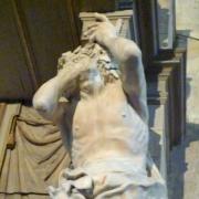 Toulouse (France). Cathédrale Saint-Étienne. Atlante de la chaire à prêcher