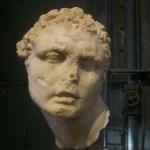 Centrale Montemartini (Rome, Italie). Tête d'homme, œuvre d'inspiration tardo-hellénistique