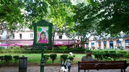 Montpellier (France), place de La Canourgue, 13 juin 2015