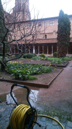 Toulouse (France). Cloître de l'ancien couvent des Augustins, musée des Augustins, 22 février 2016