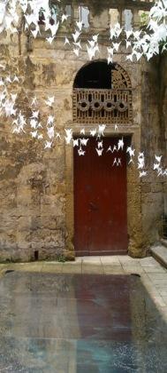 Montpellier (France), Hôtel de la Petite Loge, 18 juin 2016 (Installation IN N' OVER, Maxime Derrouch , Typhaine Le Goff et Emeline Marty, Festival des architectures vives 2016)