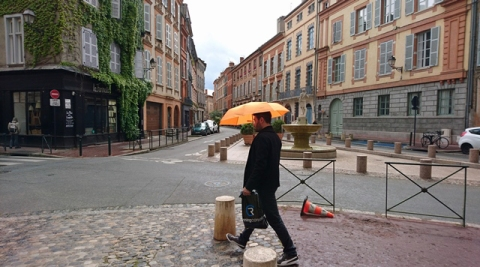 Toulouse (Occitanie, France), place Sainte-Scarbes, 6 mai 2017