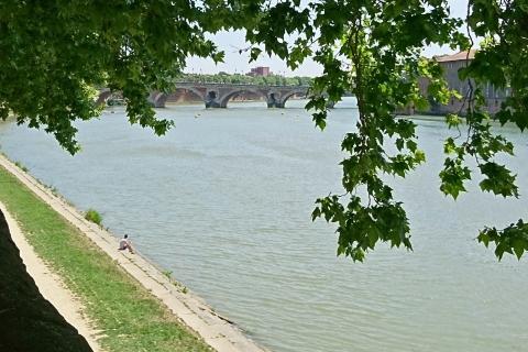 Toulouse (Occitanie, France). La Garonne, 27 mai 2017
