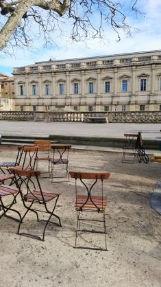 Montpellier (Occitanie, France), esplanade du Peyrou, 18 février 2018