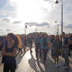 Toulouse (Occitanie, France), rassemblement pour le climat, Pont neuf,13 octobre 2018