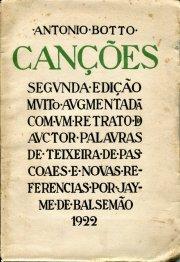 António Botto. Canções (2e édition, 1922)
