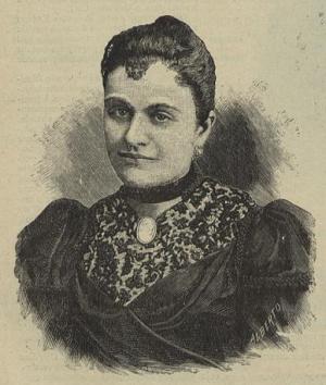 Domitila de Carvalho (1871-1966), première femme inscrite à l'Université de Coimbra, en 1891.