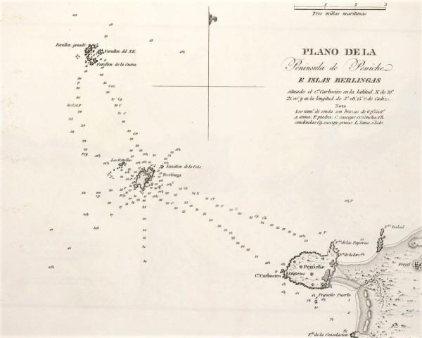 Plano de la Península de Peniche e Islas Berlingas (1813)