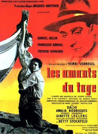 Henri Verneuil (1920-2002). Les amants du Tage (France, 1955). Affiche