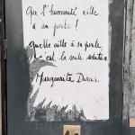 Toulouse (Occitanie, France), 18 septembre 2020. Placard apposé sur l'ancien théâtre de la Digue