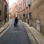 Toulouse (Occitanie, France), rue Merlane, 13 janvier 2020