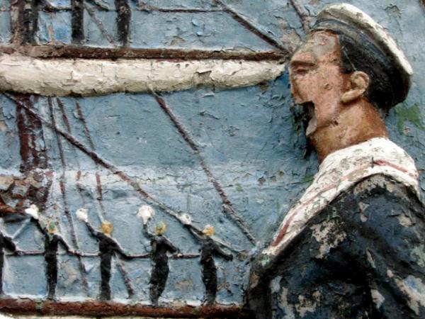 Marinero Tano : mural en El Caminito (Buenos Aires), par Oscar Tello sur Flickr
